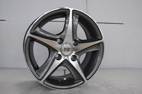13*5.5j et=35 pcd=4*100 car alloy wheel with gun gray