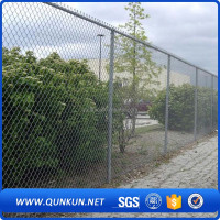galvanized diamond wire mesh/flattened diamond metal mesh/used chain link fence panels