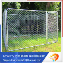 Hot sale 6ftX5ftX10ft Outdoor Black Powder coated chain link mesh Dog Kennel