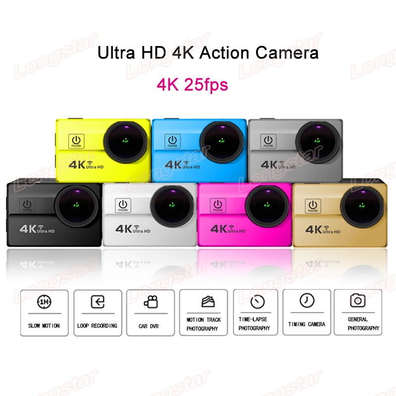 New Ultra HD 4K 25fps 64GB Waterproof 30m Wifi Action Camera YM-Q5H