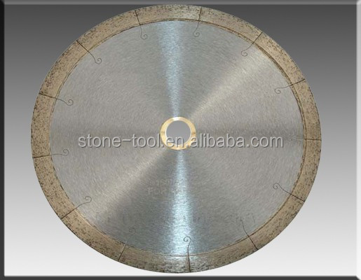 Laser J Slot Continuous Rim Small Saw Blade for cutting soft stone ( marble, limestone & Ceramic )