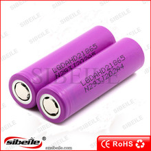 battery 18650 lg hd2 PK lg hg2 lithium battery 18650 3.6v 2000mah 25A li ion nmc battery