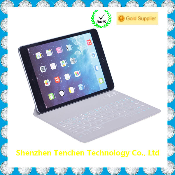 "Top Pro Leather Case Cover for Ipad Pro12.9"" With Bluetooth Keyboard and Stand Holder"