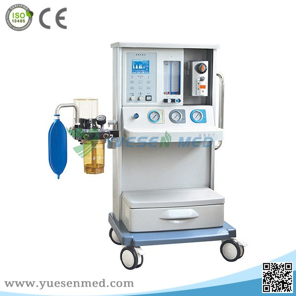 2017 YSAV01B1 CE approved economic type good quality hospital medical anesthetic equipment with ventilator