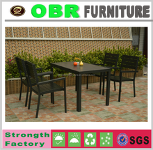 2017 Hot sale Teak Wood Furniture Outdoor Dining Table Set For 4 Seats