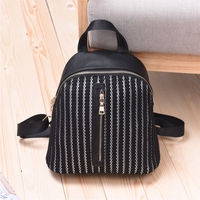 Black and white stripes purses backpacks cosmetics makeup bags women