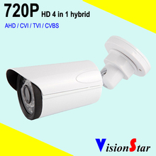 1000TVL high quality 720p 1.0mp HD bullet weatherproof camera Hybrid 4 in 1