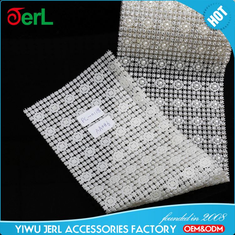 Top sale trendy style plastic base mesh rhinestone empty cup chain