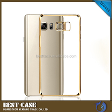 Ultra Clear Luxury Electroplating Electroplated TPU Soft Case for samsung galaxy s6 edge frame cover