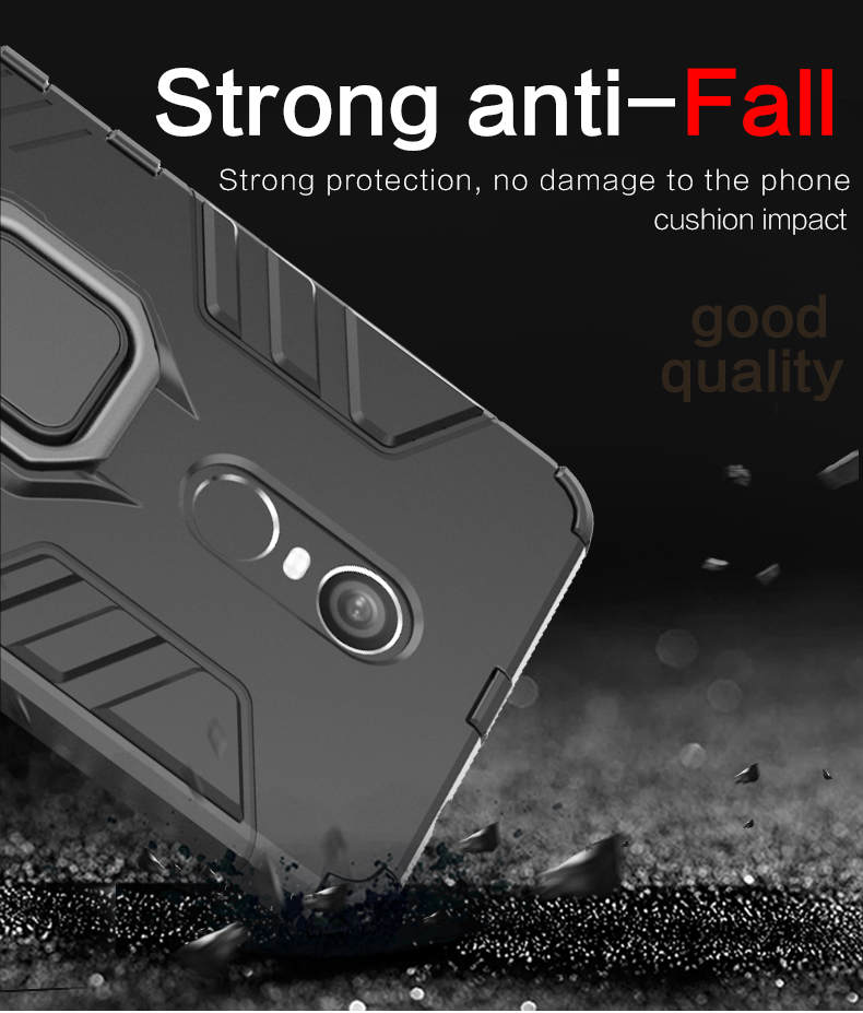 Magnetic attraction 360 degree rotating ring grip case for xiaomi redmi note 4x back cover
