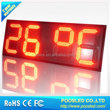 Digit time humidity screen sign \ time humidity sign board \ time humidity screen signage Brightness and Waterproof
