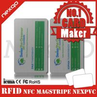 Blank nfc pvc id card samples for free