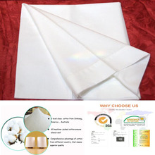 200TC 40*40s plain white bleached hotel bedding set fabric