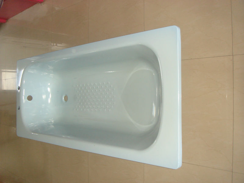 Steel plate enamel bathtub enamel bathtub