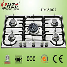 2015 Home appliance 5 burners Stainless steel gas burner cooking range