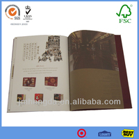 High-end Customization Cheap Hardcover Textile Printing Books