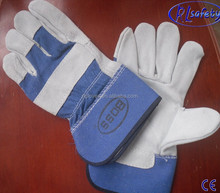 blue color lady fashion goatskin leather gloves 2012