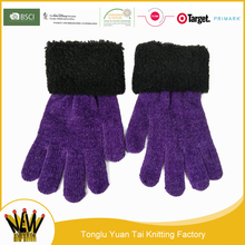New style hot sale quality-assured purple knitting thermal beer glove