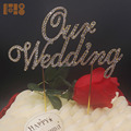 2018 new arrivals our wedding rhinestone cake toppers for wedding decorations for tables centerpiece