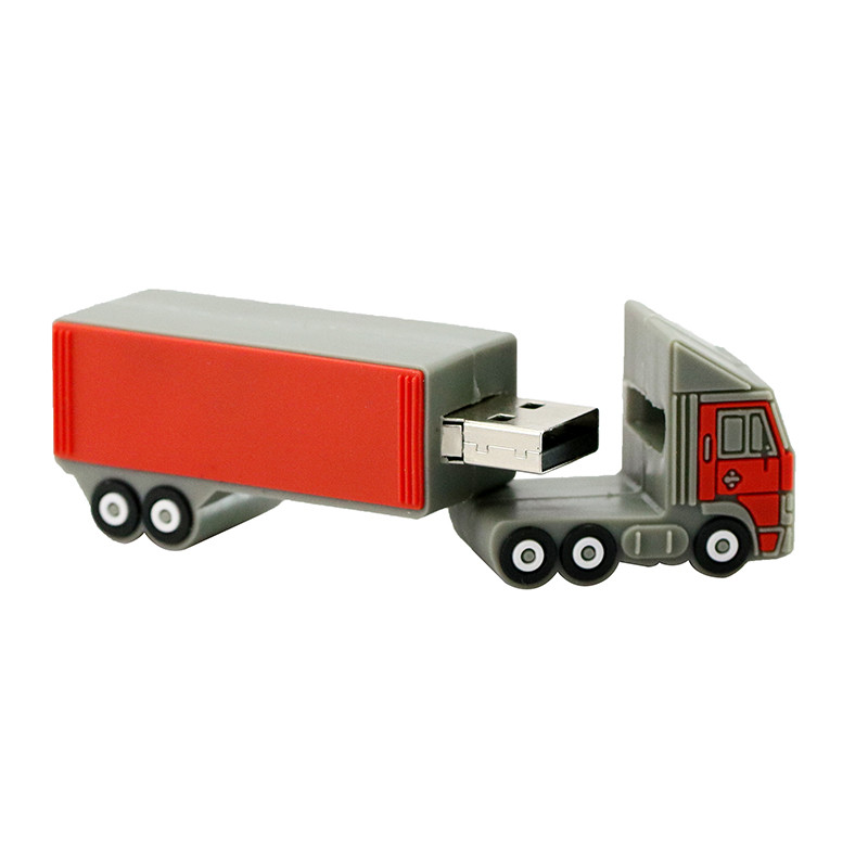 Cartoon Container Cars Usb Flash Drive OEM Flash Memory Usb For Promotional Gift