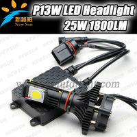 Car P13w led bulb auto led driving head light 25w 1800lm car front led light 12v Cree cxa1512 led head lamp