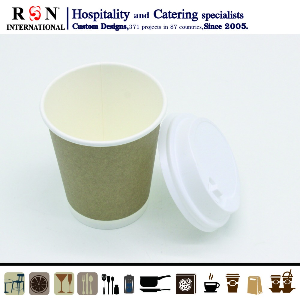 High quality custom logo double wall kraft paper coffee cup,heat insulation paper cup