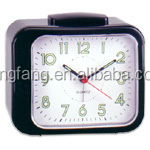 Plastic old fashion table square bell alarm clock