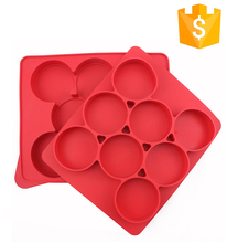 Eco-friendly BPA free custom round burger press silicone square burger press