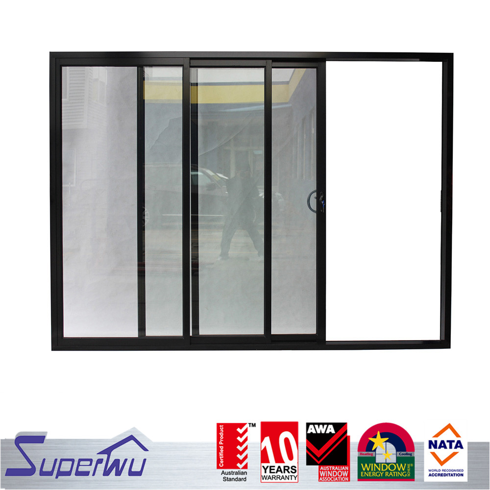 Customized yelloe color commercial aluminum arc shape drawing room sliding door