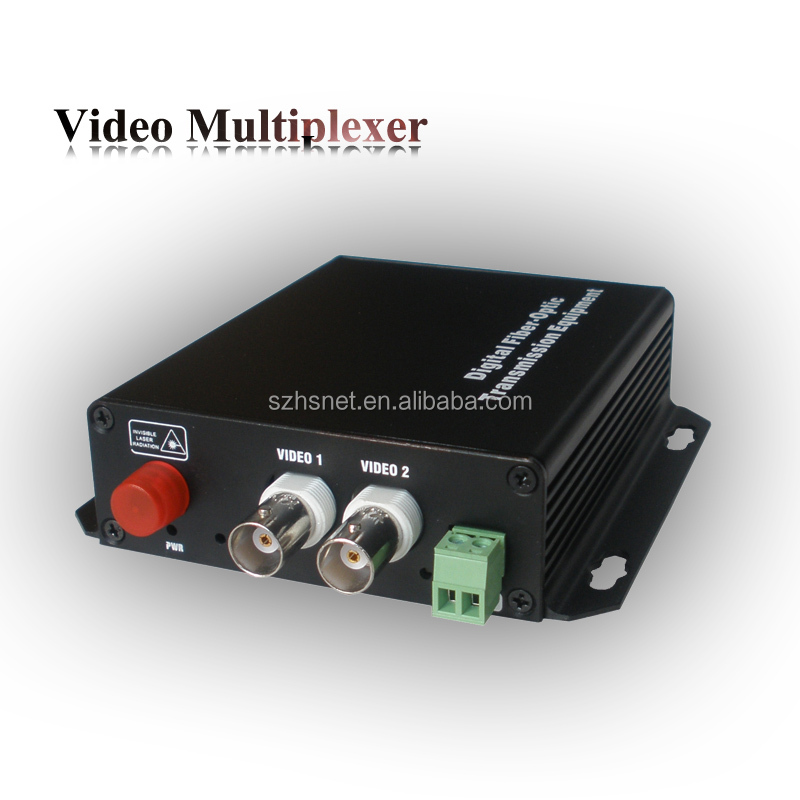 2 channel Analog video signal bnc coaxial RS422 data hdmi to fiber optical converter