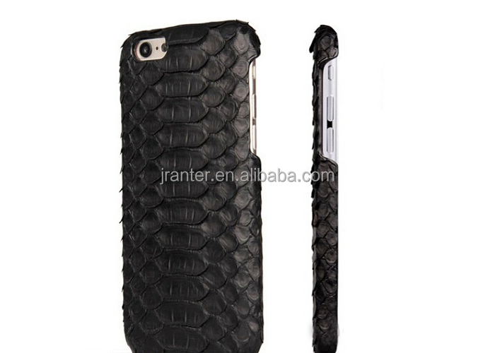 Jranter Real Python Skin Leather Black Phone Case