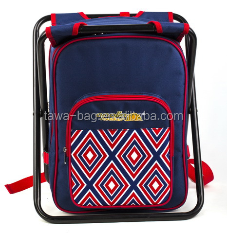 Newly designed multifunctional folding picnic backpack with chair