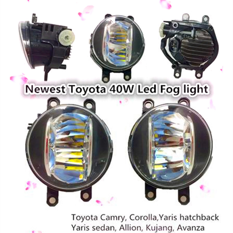 2016 Toyota Led fog light 4 inch round 20w toyota Camry Corolla Yaris led drl fog light for PREVIA RAV4 car fog lamp