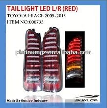 #000733 hiace tail light LED L/R (RED) for new model for hiace commuter,hiace van(2010-2013)