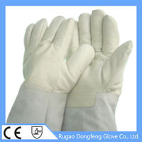 hot selling Liquid Nitrogen/Dry ice/Cold storage cowhide grain leather protective gloves for Biomedical laboratory research/ ind