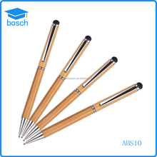 Eco-friendly original color wooden material pen,wooden stylus pen for smartphone touch