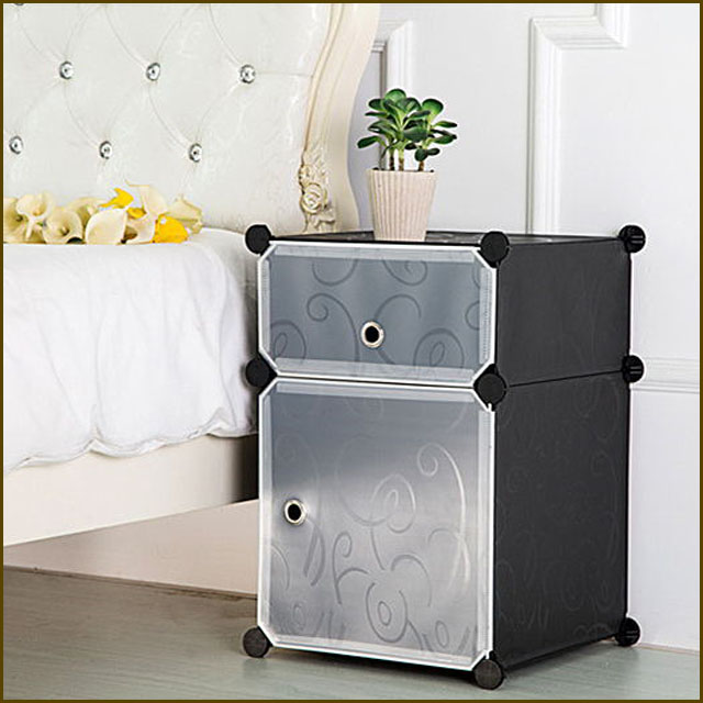 new style factory price and good quality embossed PP plastic bedstand