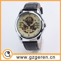High quality special round antique skeleton watch D00185z