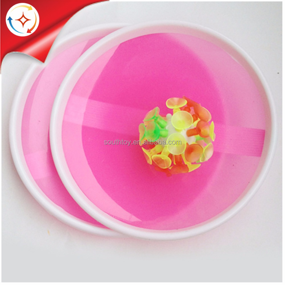 Sticky Ball Toss and Catch Sport Game with 2 Paddles and 1 Flashing Suction Ball