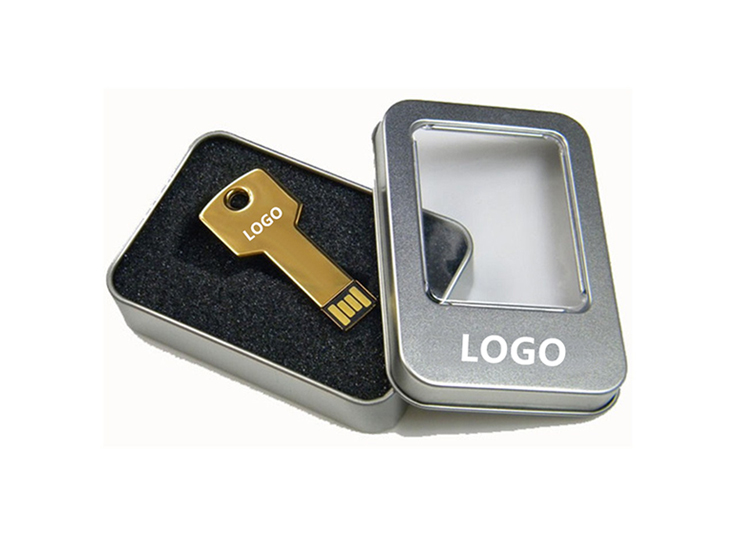 Metal Keychain Twister Leather USB Flash Drive