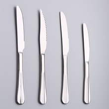 Factory price Stainless steel steak table knife and dinner knife set with thick handle