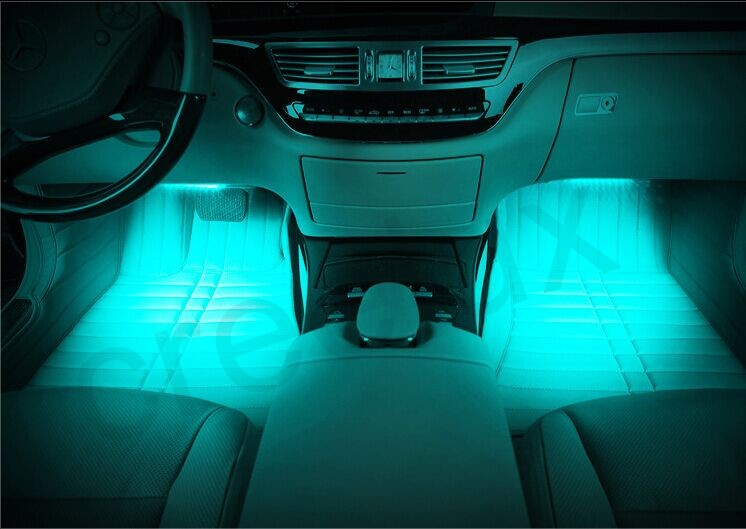 17 LED 4 In1 RGB Car Charge Interior Light Accessories Foot Car Music Activities Decorative Lamp