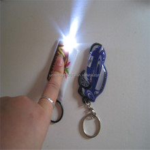 2016 promotional gifts customized logo soft pvc reflector led lights keychain