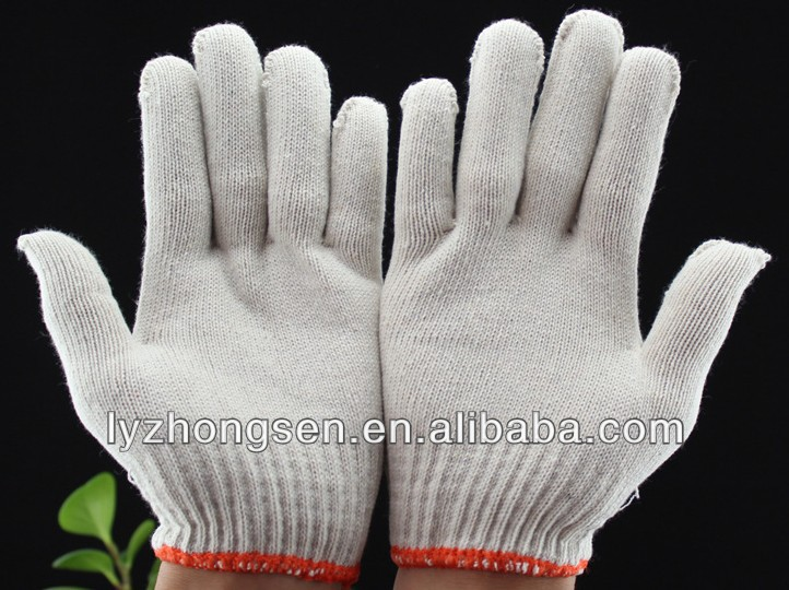 white cotton masonic gloves, safety gloves working gloves 7G,10G,13G,15G knitting glove