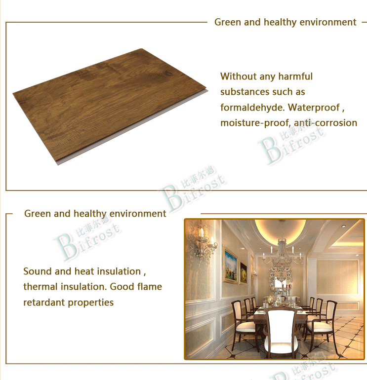 interior waterproof environment friendly decorative wpc wall panel