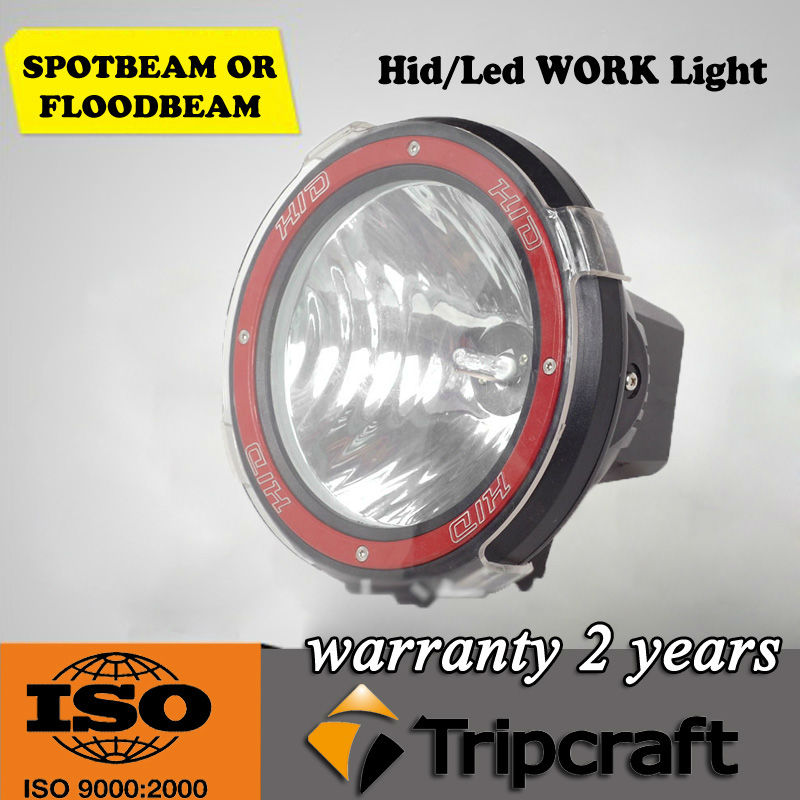 4x4 off road hid fog driving light,55w 75w 7' 12v hid car light,atv heavy truck hid working light