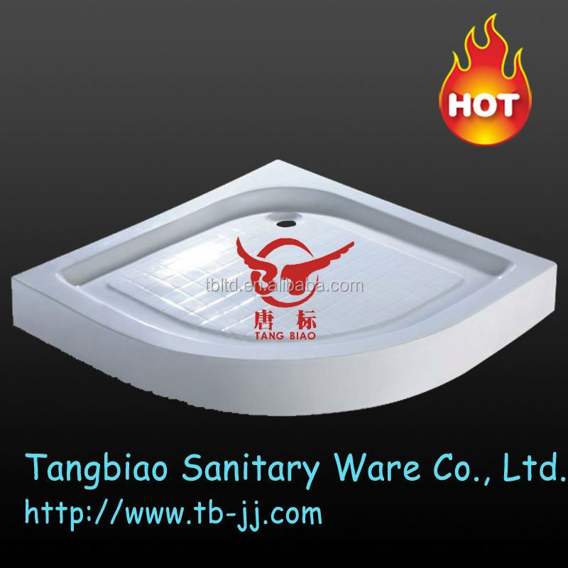customized design white marble round tray ,shower tray