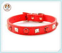 Hot Sale Bling Rhinestone Small Leather Puppy Dog Cat Collars