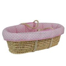 KidiComfort Lullaby Wicker Basket , wicker baby bassinet,wicker baby sleep bed