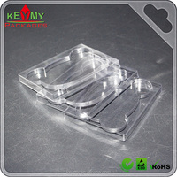 clear plastic disposable PET blister plastic cookie trays, customized cookie blister packaging plastic food tray
